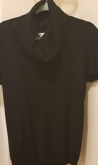 933e8d0625e Dress Barn Sweaters - Dress Barn Short Sleeved Black Sweater